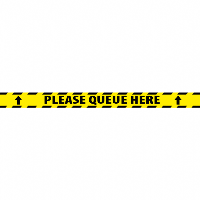 2000mm x 150mm - Please Queue Here